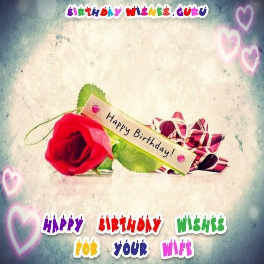Cute Birthday Wishes and Adorable Images for your Wife