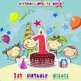 1st Birthday Wishes for Cute Babies