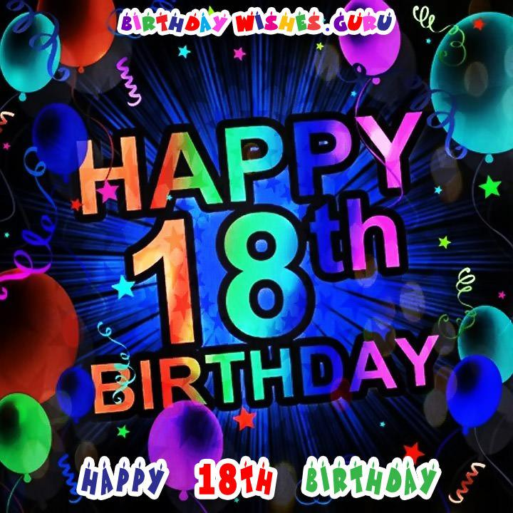 Peachy Happy 18Th Birthday Birthday Wishes For An 18 Year Old Funny Birthday Cards Online Fluifree Goldxyz