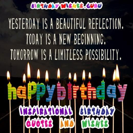 Inspirational birthday quote
