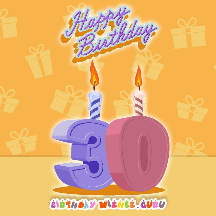 30th Birthday Wishes Happy Birthday 30th Wishes