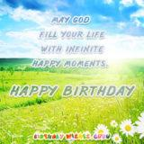 """And God said , """"Let there be light."""" Then you were born. You are a gift from heaven, and the light of our lives. Happy Birthday, love."""
