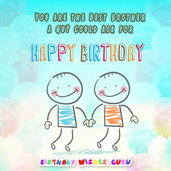 Birthday Wishes For Brothercute Cards And Happy Birthday Messages