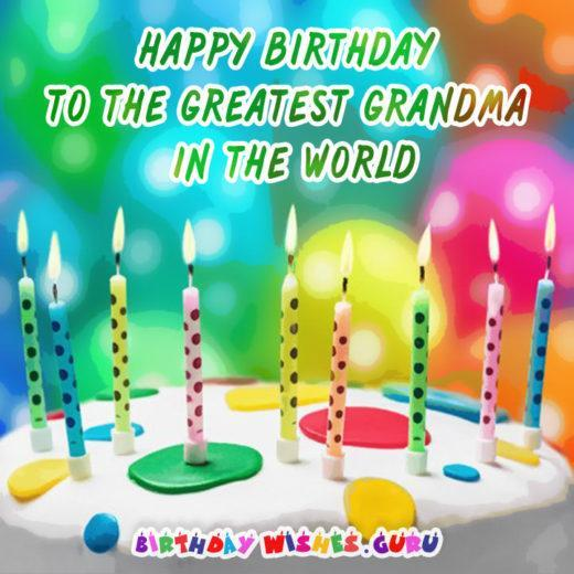 Happy Birthday to the Greatest Grandma in the world