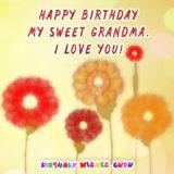 Happy birthday my sweet grandma. I love you!