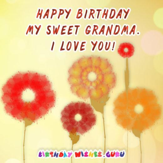 Happy birthday sweet grandma