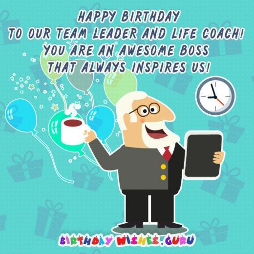 Happy birthday to our team leader and life coach! You are an awesome boss that always inspires us!