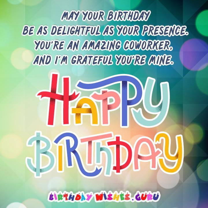 Amazing Birthday Messages: Birthday Messages Suitable For A Coworker