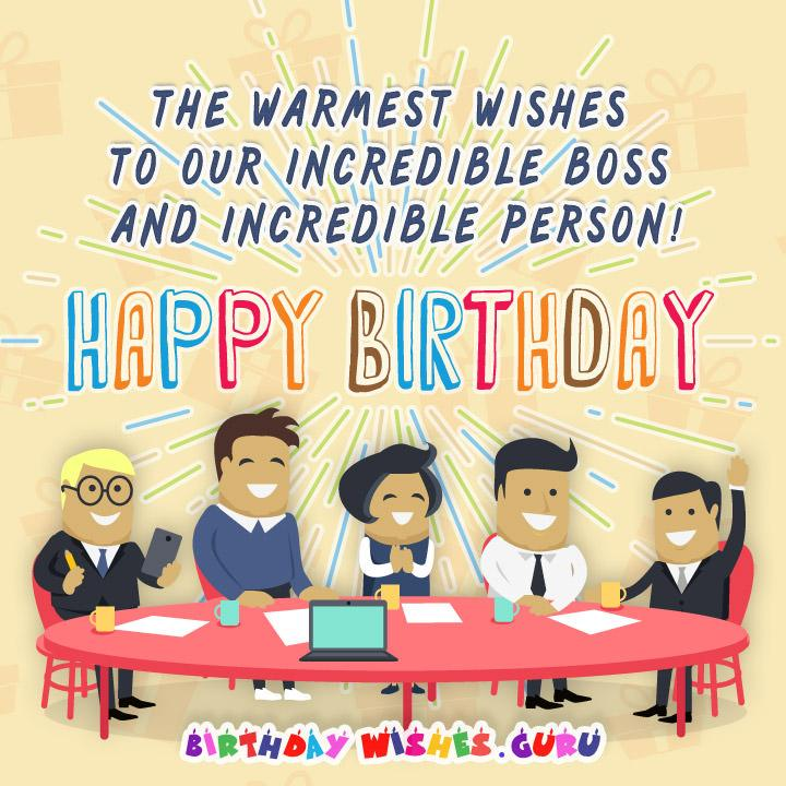 The warmest wishes to our incredible boss and incredible person!