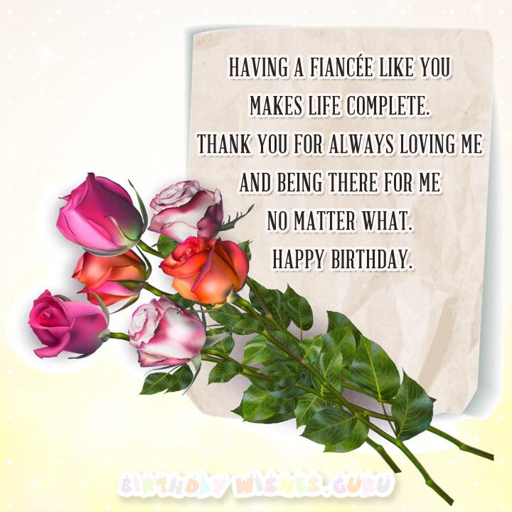 Birthday Wishes for your Fiancée