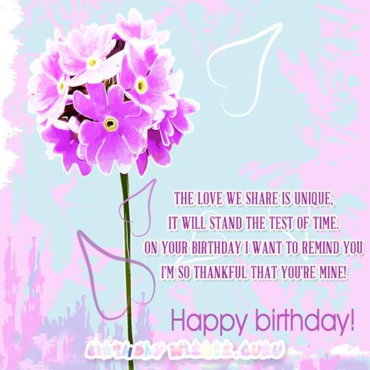 Love romantic birthday wish