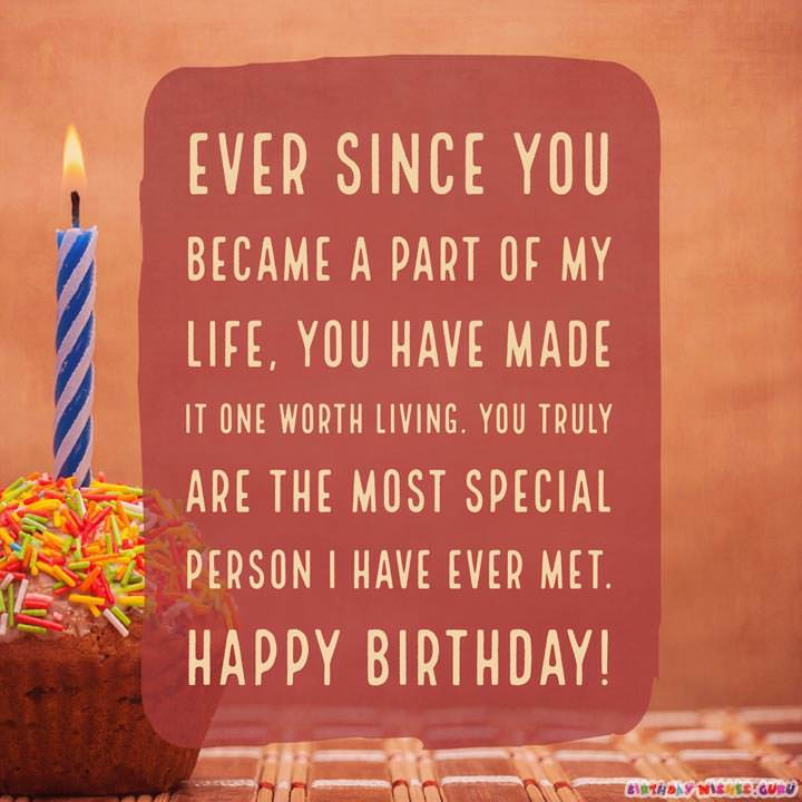 Happy Birthday Wishes for Someone Special in your Life