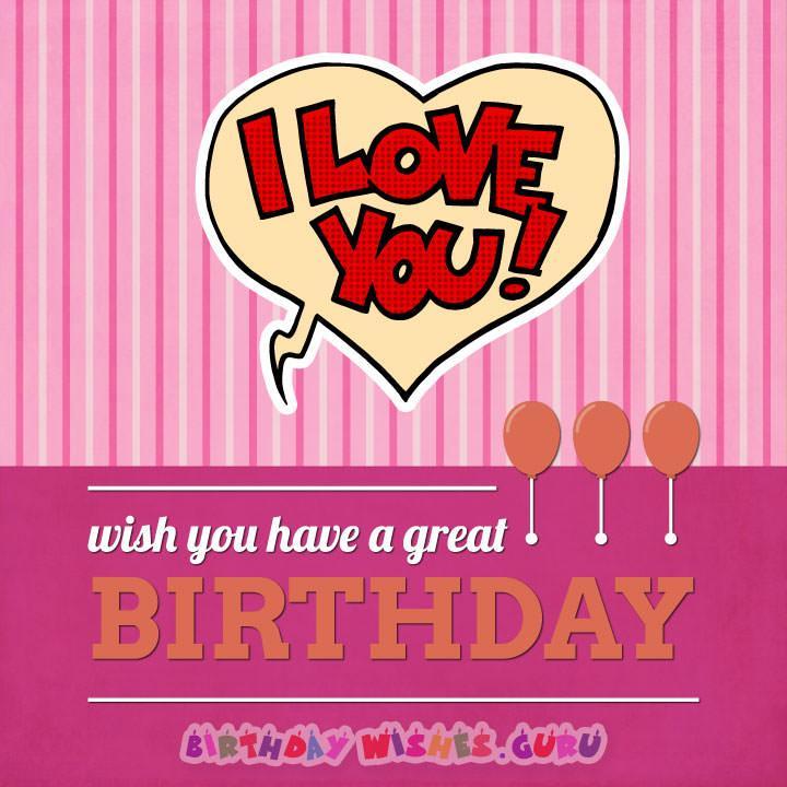 Love you happy birthday