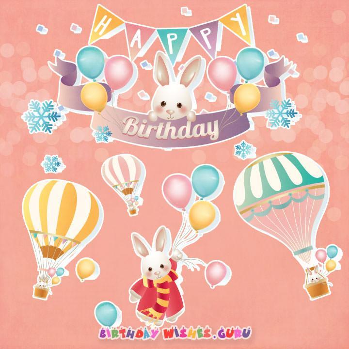 Birthday card for baby girl