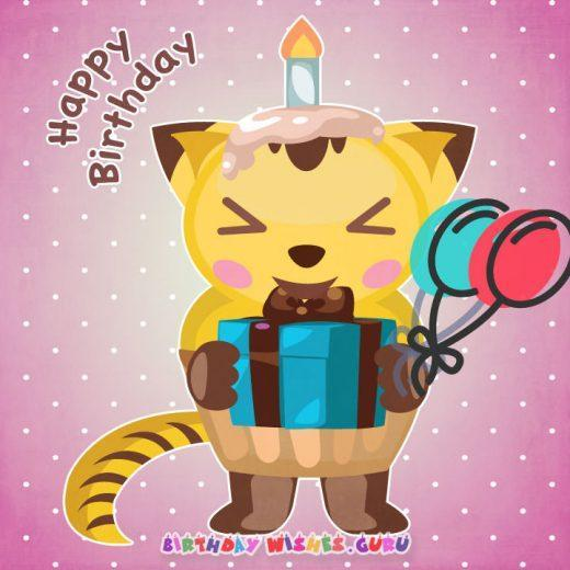 Happy birthday card for liitle girl