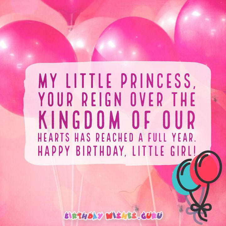 Brilliant 20 Cute Birthday Wishes For Baby Girl By Birthday Wishes Guru Personalised Birthday Cards Bromeletsinfo