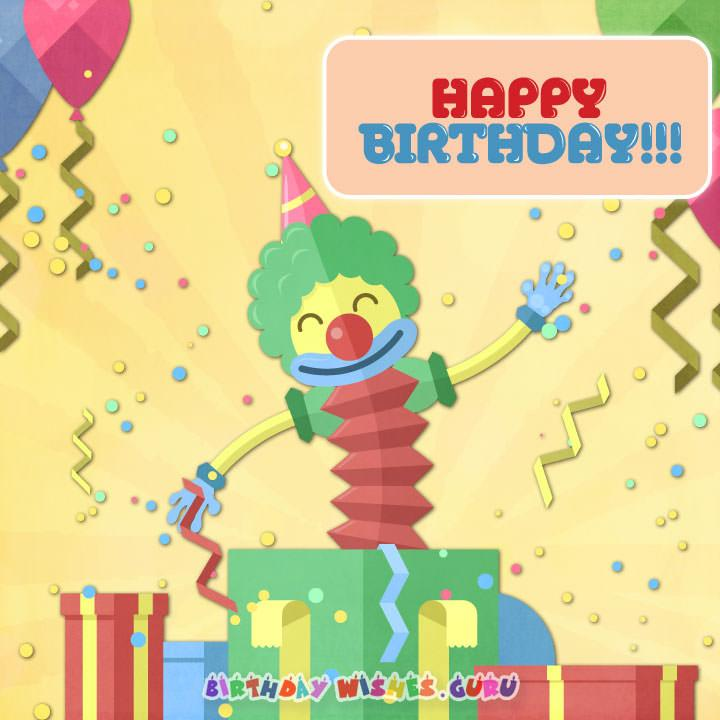 Happy birthday card for kids and babies